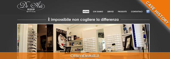 Realizzazione sito Ottica De Asti