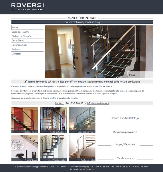 Roversiscale.it - Restyling home page