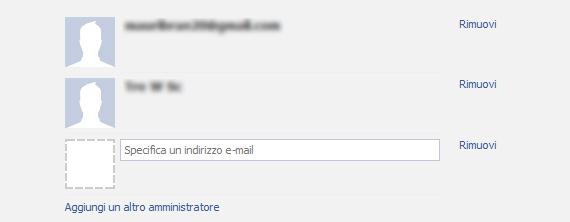 Aggiungi amministratore facebook
