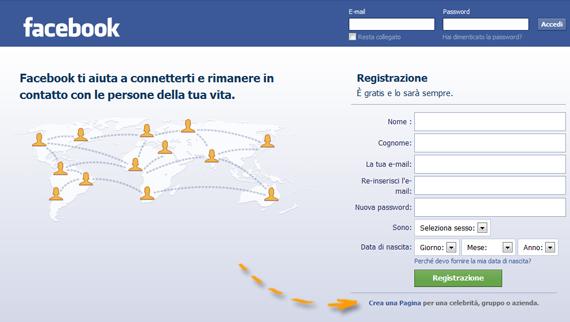 Crea una Pagina Facebook