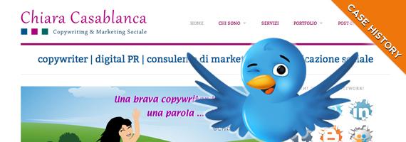 La nascita del sito di Chiara Casablanca e Twitter