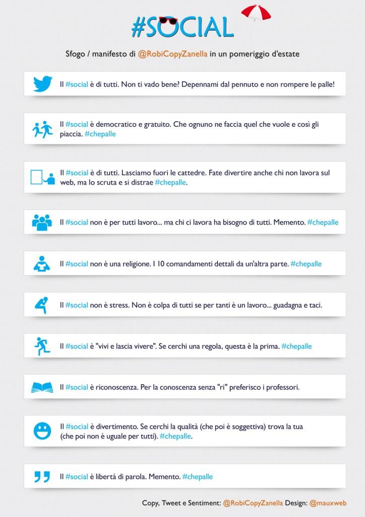 #social infografica parole Roberta Zanella design mauxweb