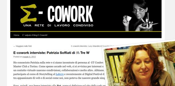 Intervista Patrizia Soffiati per E-cowork a cura di Simona Pozzi