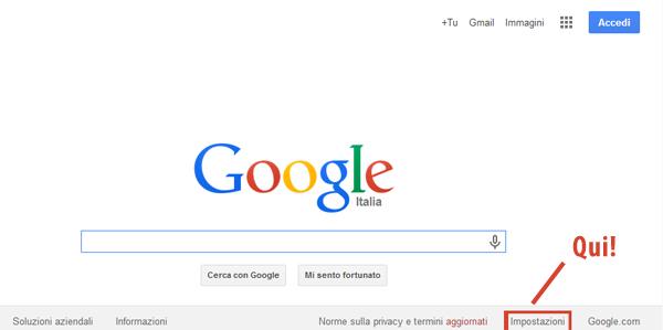 Impostazioni google safesearch
