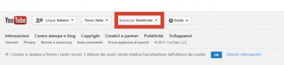 Impostazioni sicurezza youtube