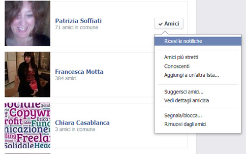 Liste automatiche Facebook