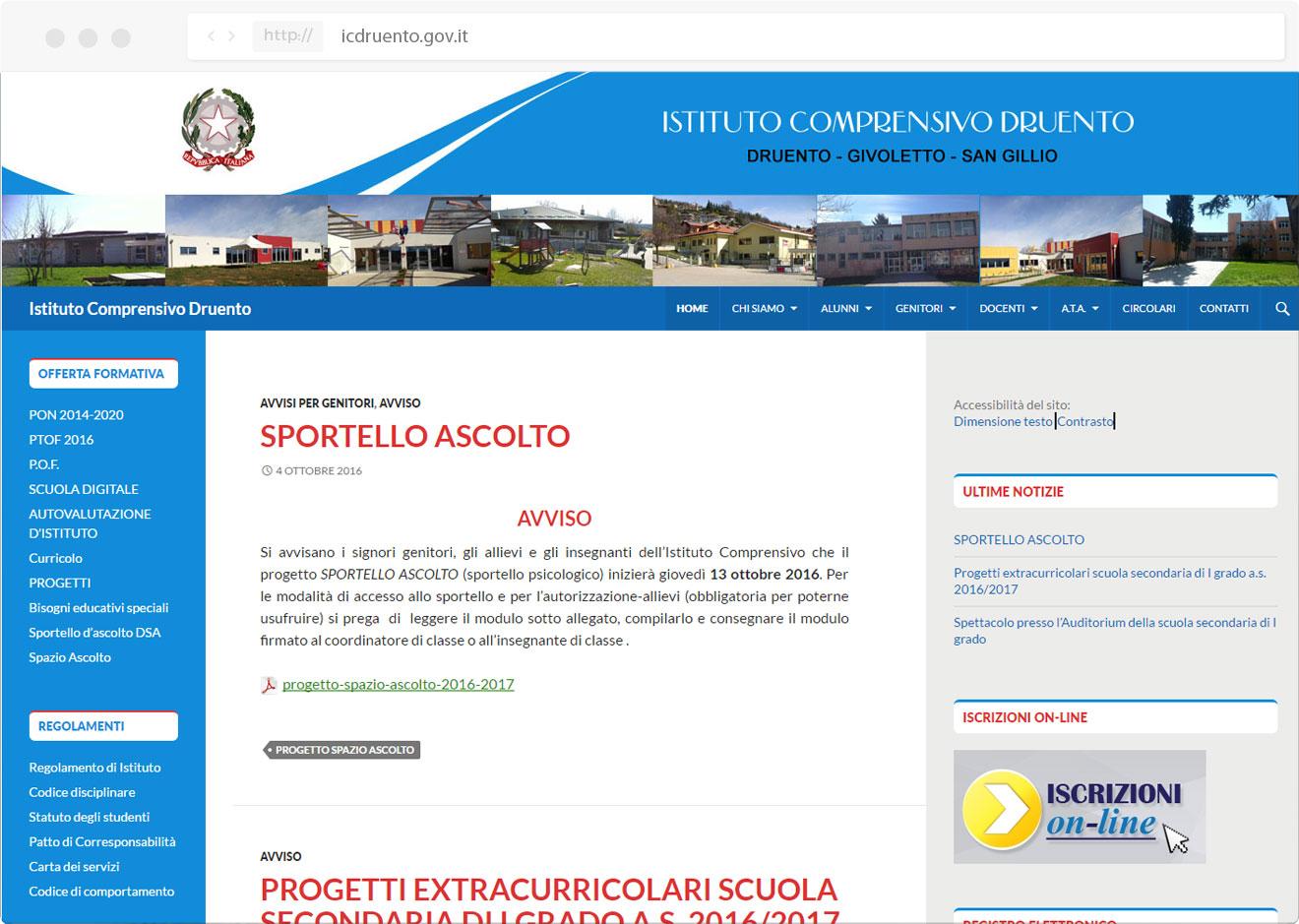 Icdruento - tre W siti web