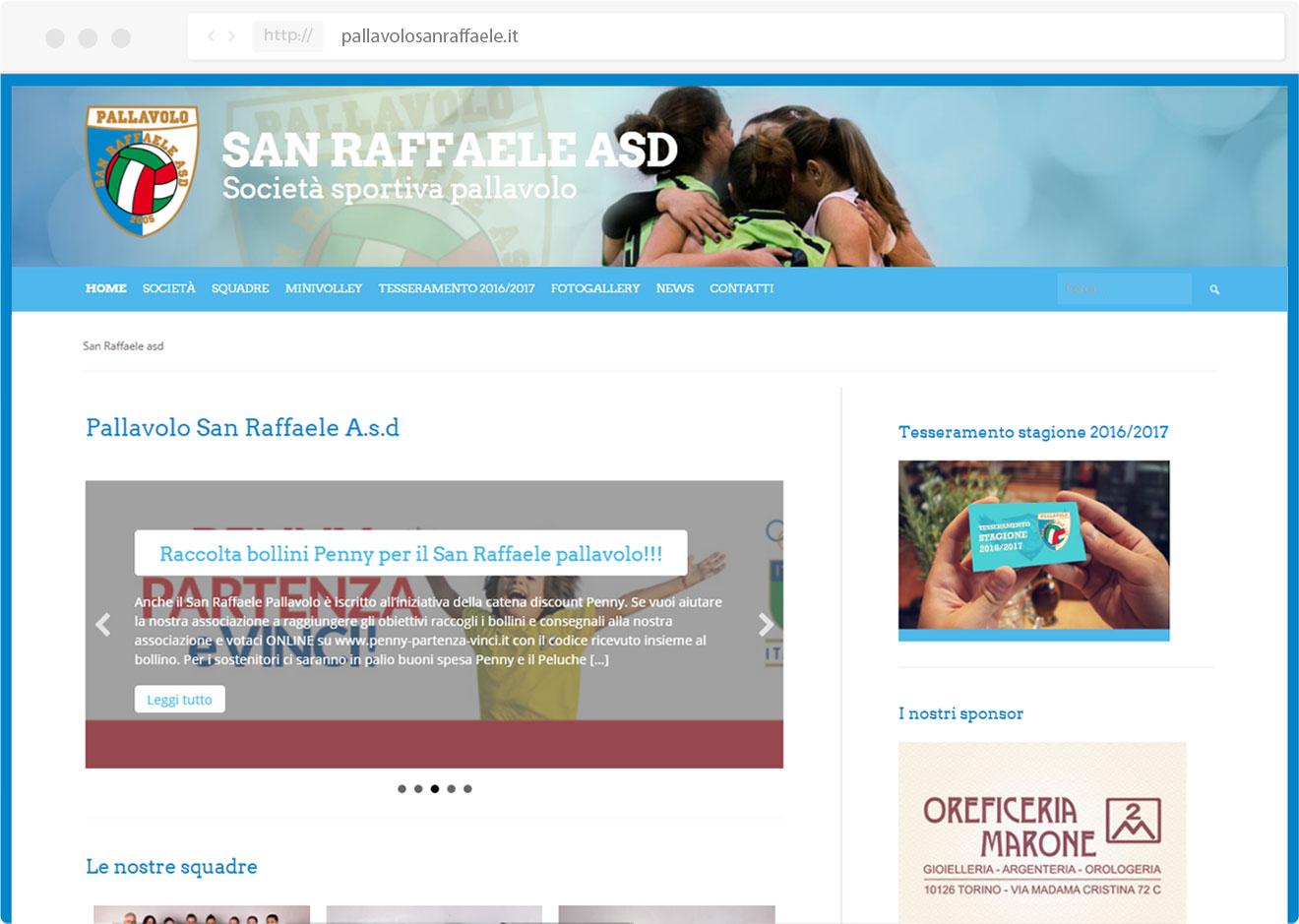 Pallavolo san raffaele- Tre W siti web