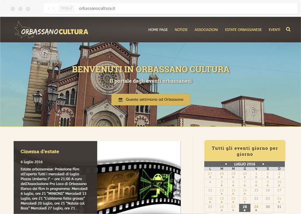 Progetto Orbassano Cultura - Tre W siti web