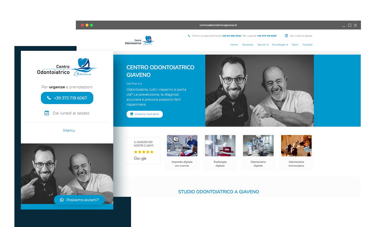 CENTRO ODONTOIATRICO GIAVENO - Dispositivi - Logo - Tre Siti Web